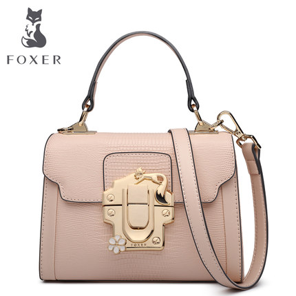 FOXER Brand Fashion Women Leather Handbags Lady Shoulder Bag Simple & Luxury Crossbody Bags for Female High Quality Bags beep2018 new high quality fashion luxury brand leather handbags fashion shoulder bag women s well known brand
