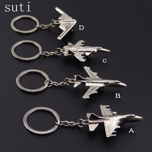 suti Creative Keychain Metal Naval Fighter Aircraft model Aviation Gifts Key ring Model Key chain Air Plane Aircrafe Keyring