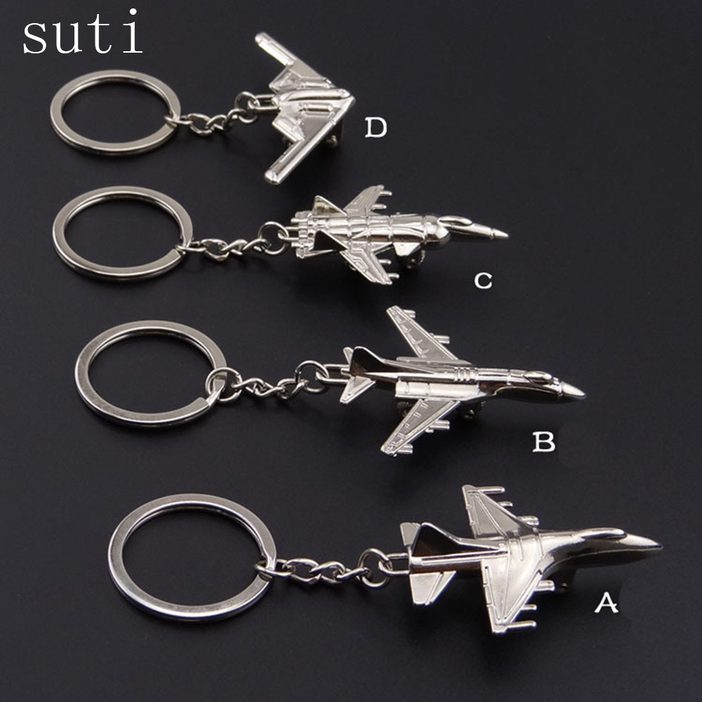 suti Creative Keychain Metal Naval Fighter Aircraft model Aviation Gifts Key ring Model Key chain Air Plane Aircrafe Keyring цена