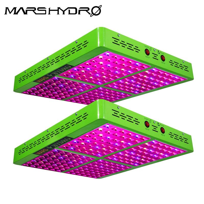 2PCS Mars Hydro Reflector 1000W LED Full Spectrum Grow Light,Hydroponic Grow Light For Indoor Garden