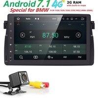 1 Din Android 7.1 GPS AutoRadio Car NO DVD Multimedia Player For BMW E46 M3 318/320/325/330/335 1998 2006 Head Unit Navigation