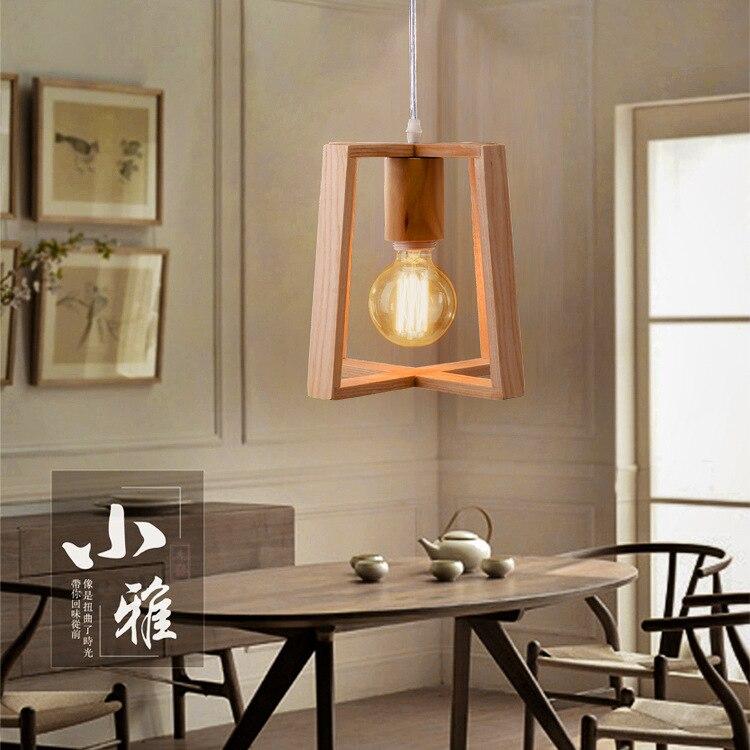 Moderne Anhänger Licht Holz Lampe Restaurant Bar Kaffee Esszimmer ...
