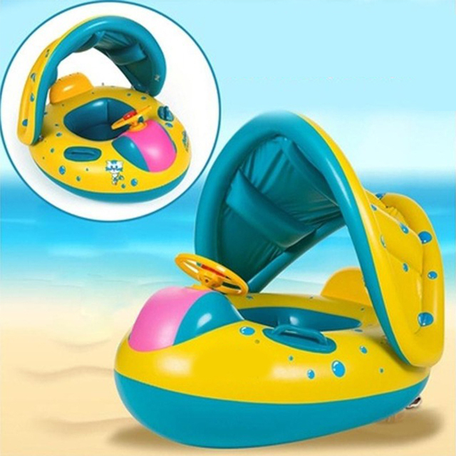Inflatable Boat with Sunshade for Children