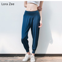 Lora Zee Loose Jogging Pants For Women Widen Waist Super Soft Workout Sweatpants For Gym Breathable Quick Dry Harem Yoga Pants