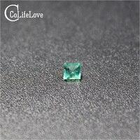 2,5 мм 100% натуральный изумруд незакрепленный драгоценный камень для ювелирных изделий DIY