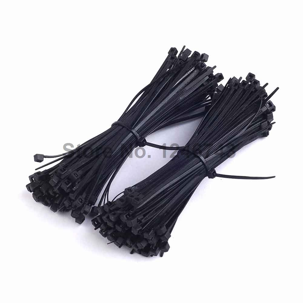 100PCS 100mm x 3mm Electrical Cable Tie Wrap Nylon Fastening Black