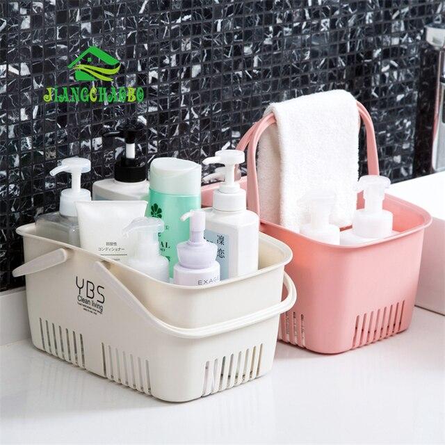 JiangChao Portátil cesta de Armazenamento Cesta de Banho de Plástico Cesta De Armazenamento Cesta De Banho de Chuveiro Do Banheiro