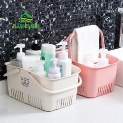 JiangChao Portable Bath Basket Bathroom Shower Storage Basket Plastic Bath Storage Basket