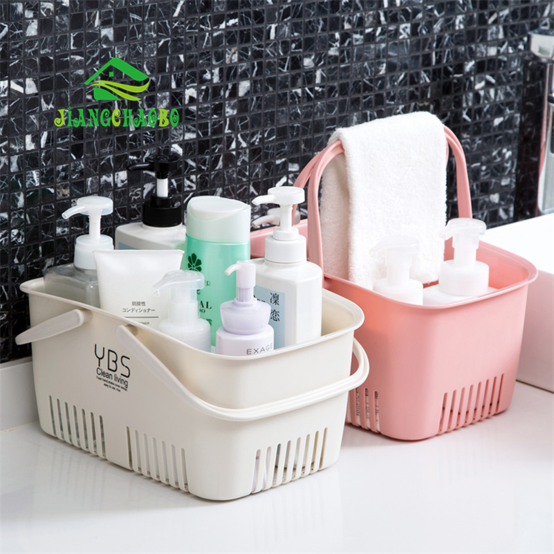 Jiangchao cesta de banho portátil banheiro chuveiro cesta de armazenamento de plástico cesta de armazenamento de banho