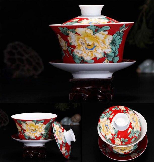250ml Chinese Ceramic Gaiwan Tea Setkung Fu Cup High Quality Creative