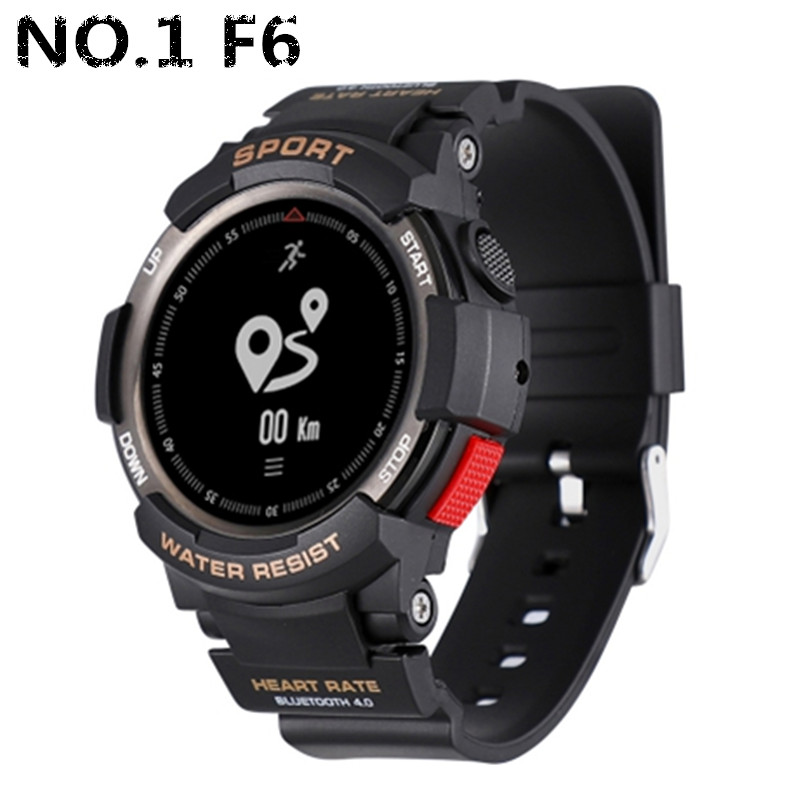 NO.1 F6 Smartwatch NRF51822 Chip Smart Watch IP68 Waterproof Bluetooth Sleep Monitor Remote Camera Support Dropshipping Pk F5 цена