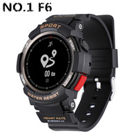 NO.1 F6 Smartwatch NRF51822 Chip Smart Watch IP68 Waterproof Bluetooth Sleep Monitor Remote Camera Support Dropshipping Pk F5