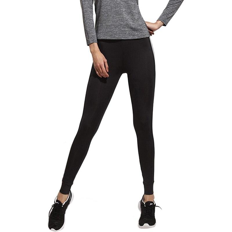 AVANASHORN Women Yoga Pants High Waist Indoor/Outdoor Sports Fitness Black Two White Lines Female Exercise Pant Running Leggings