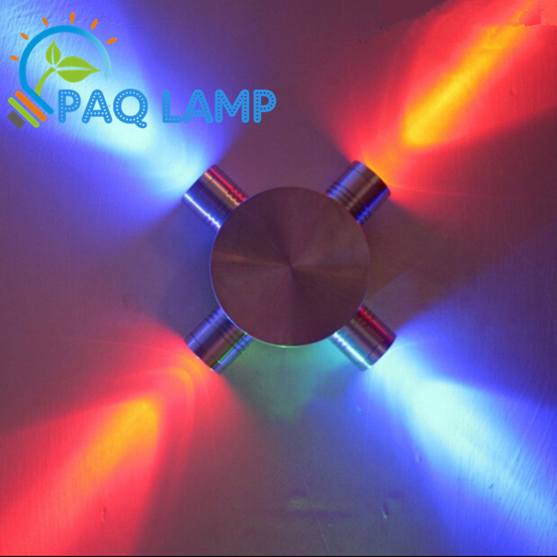 Modern cross wall lamp color 1w*4 LED Aluminum and stainless steel material The corridor porch wall decorating light fixture ...