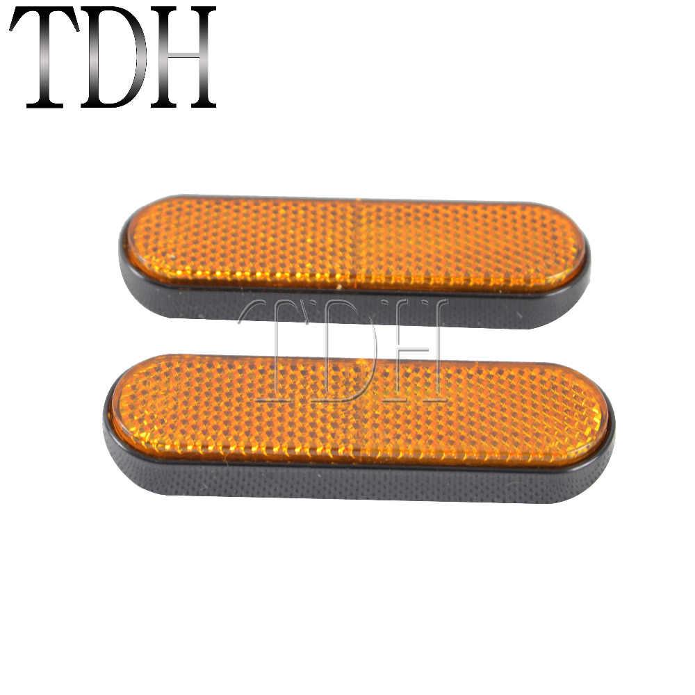 Универсальный желтый отражатель номерного знака для мотоцикла, передняя вилка, ножка отражателя, крышка