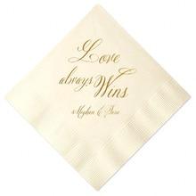 custom personalized napkins. set of 100 personalized napkins custom wedding favor shower bar foil