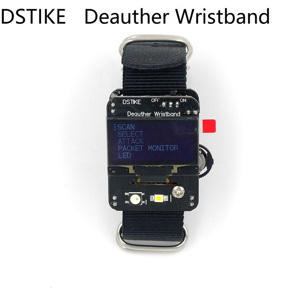 Dstike deauther браслет Wi-Fi атаки/Управление/Тесты инструмент ESP-07 1.3O светодио дный 600 мАч батареи RGB светодио дный без PB ESP8266 Совет по развитию