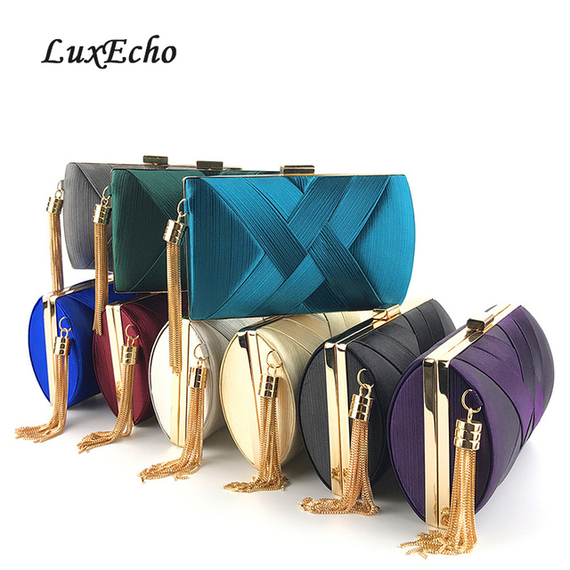 2019 New arrive teal Blue Bride Wedding purse Girl's Day Clutches Evening bags Party Chains Shoulder bags ladies fashion purse