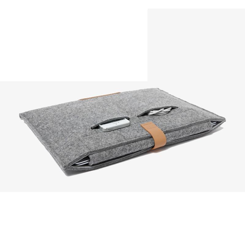 11,6 13,3 15,4 tum ullfilt bärbar bärbar datorväska väska till - Laptop-tillbehör - Foto 5