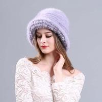 2018 autumn winter Super warm snow show women genuine rex mink fur white Russian style cap lady luxur fur hat hair lovely fur