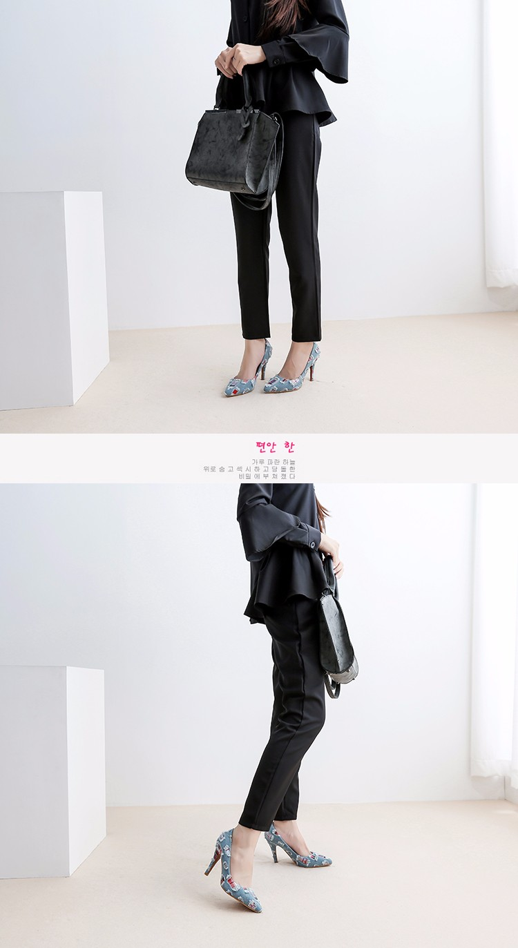 New arrival Denim Ladies Shoes pointed toe high heels Free Shipping! HTB1bKVaSFXXXXabXFXXq6xXFXXXE