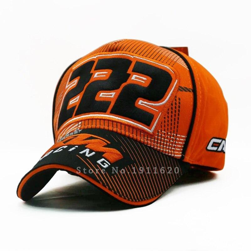 Prix pour 2016New Coton Moto GP Lettres Orange KTM Racing casquettes broderie Casquettes de Baseball Pour Hommes Snapback Golf cap Loisirs chapeau de Soleil
