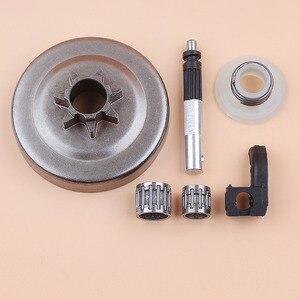 """Image 2 - . 325 """"7 t cilindro de embreagem rolamento da bomba óleo pistão lubrificador worm gear kit para husqvarna 340 345 350 jonsered 2145 2150 peças de motosserra a gás"""