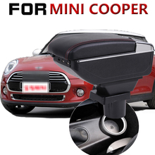 Leather Car Armrest For BMW MINI cooper Arm Rest Rotatable saga leather car armrest for renault sandero arm rest rotatable saga