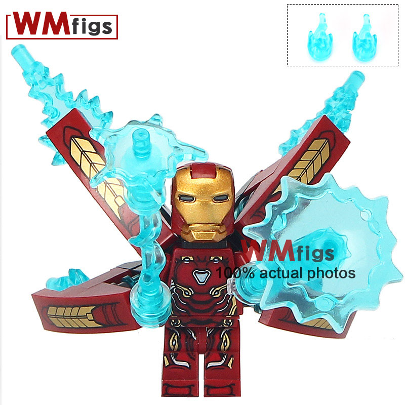 50pcs/lot Super Heroes Iron Man Avengers Infinity War Collection Educational Action Figure Building Blocks Children Toys D009 Superior Materials Blocks