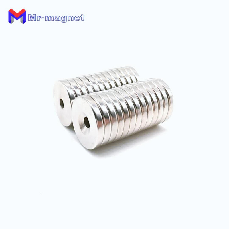 20pcs D20mmx4mm with hole dia 5mm N35 cheap super strong neodymium permanent magnet D20x4 5 20x4 5mm magnet 20x4 5 in Magnetic Materials from Home Improvement