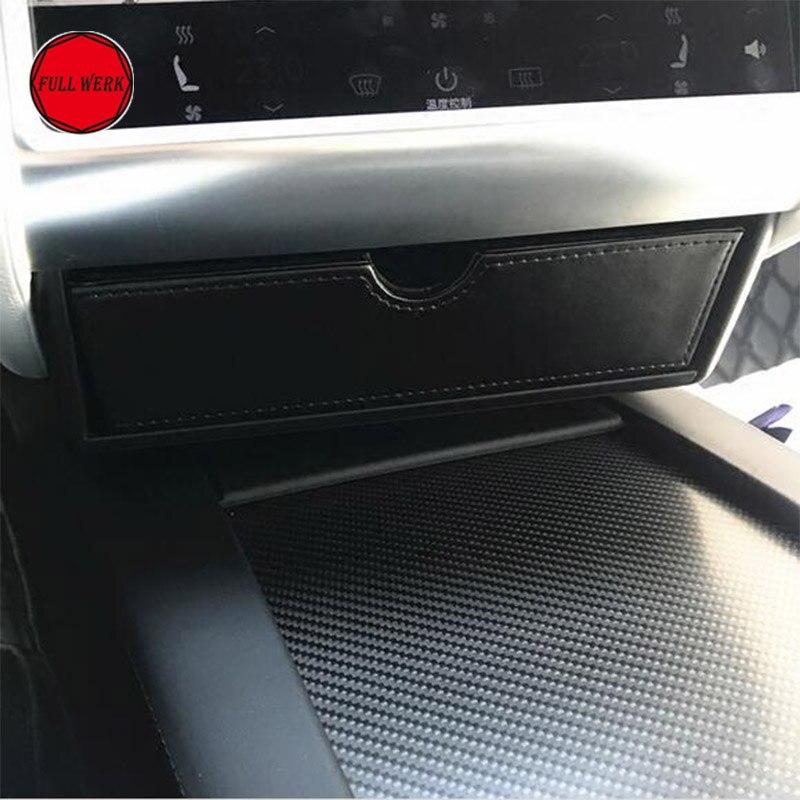 Nouveau Center Console Boîte De Tiroir De Rangement Plateau Cubby adapte Tesla Modèle X Modèle S Conteneur Boîte de Contenu de Magasin Intérieur Accessoires