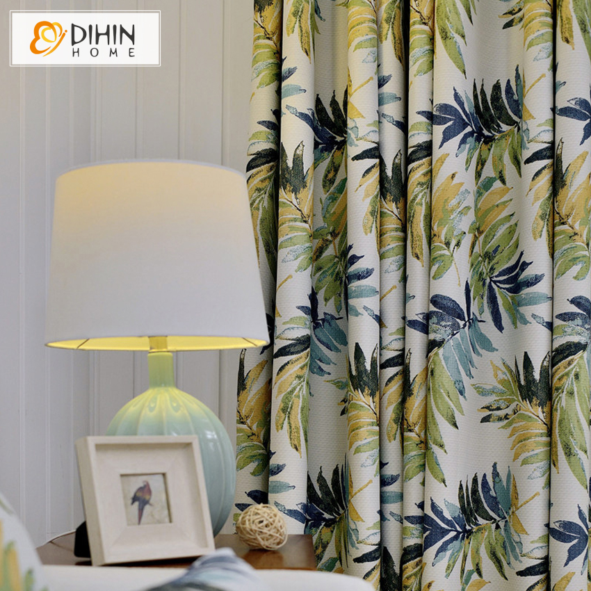 New arrival blackout curtains hawaiian tropic curtain for living room window drapes window treatments ready made panels in curtains from home garden on