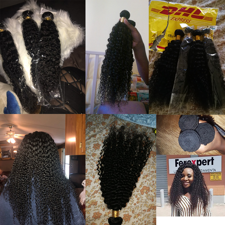 Afro Kinky Curly Hair Bundles Deal Human Hair Bundles Brazilian Hair Weave Bundles 100% Human Hair Extension Non Remy Weave (3)