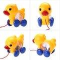 Baby toys criança bebê a aprender andar brinquedo divertido puxar junto pequeno pato com chocalhos de brinquedo ao # p