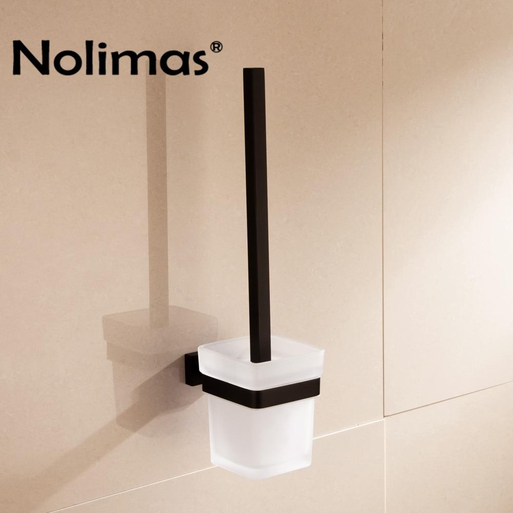 где купить 2018 Electroplated SUS 304 Stainless Steel Toilet Brush Holders Bathroom Toilet Brush Cup Holder Rack Bathroom Brush Shelf по лучшей цене