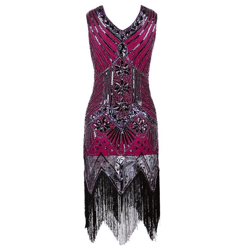 Costume Vestito Estate Plus Del Delle Donne Charleston Nappa Dance Di 15 Paillettes Dress Size Partito Dell'annata 17 16 Gatsby Vestiti Latin xq50awYXa