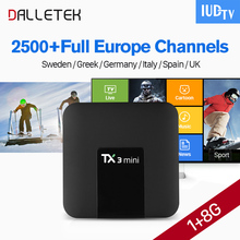 TX3 Mini IPTV 1 Year Android 7.1 TV Receiver S905W Quad Core With IUDTV Subscription Turkey Portugal Sweden UK Italy Spain IPTV iptv portugal box r1 iptv receiver android 8 1 with iudtv 1 year subscription iptv turkey portugal sweden uk spain italia ip tv