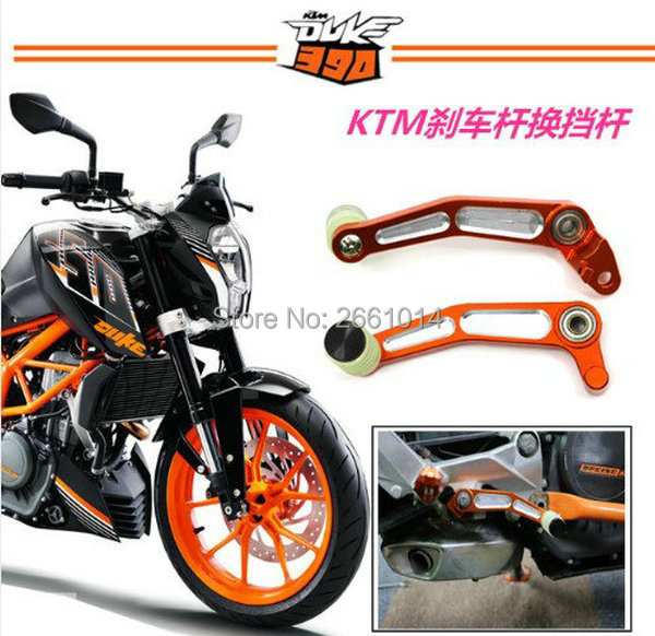 Free shipping High quality Motorcycle CNC Brake Clutch Gear Pedal Lever shift lever For KTM DUKE 125 200 390 2013 2014 2015 high quality cnc aluminum motorcycle adjustable brake clutch lever ergonomic designed brakes levers for ktm 200 125 390 duke
