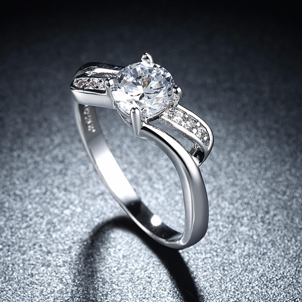Ms Elegant Romantic White Gold Ring Queen Elegant Wedding Rings