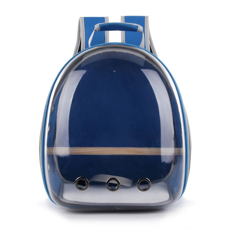 2019 New High Quality Space Capsule Transparent Backpack Breathable 360 Degree Sightseeing Pet Parrot Carrier Bird Travel Bag