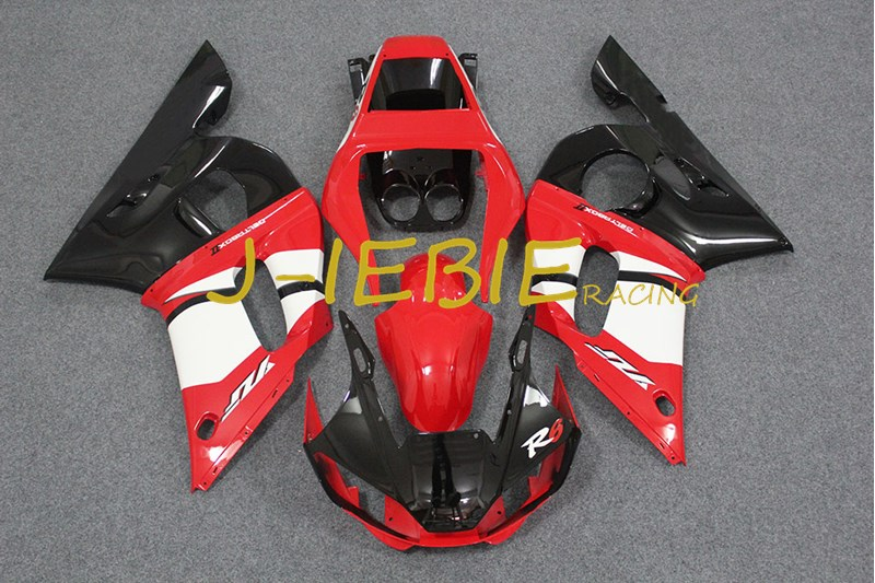 Red black Injection Fairing Body Work Frame Kit for Yamaha YZF 600 R6 1998 1999 2000 2001 2002