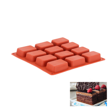 12 Cavities Silicone Handmade Rectangle Cake Molds Soap Mold For Chocolate Cookies Pie Pastry Decorating Bakeware Tools
