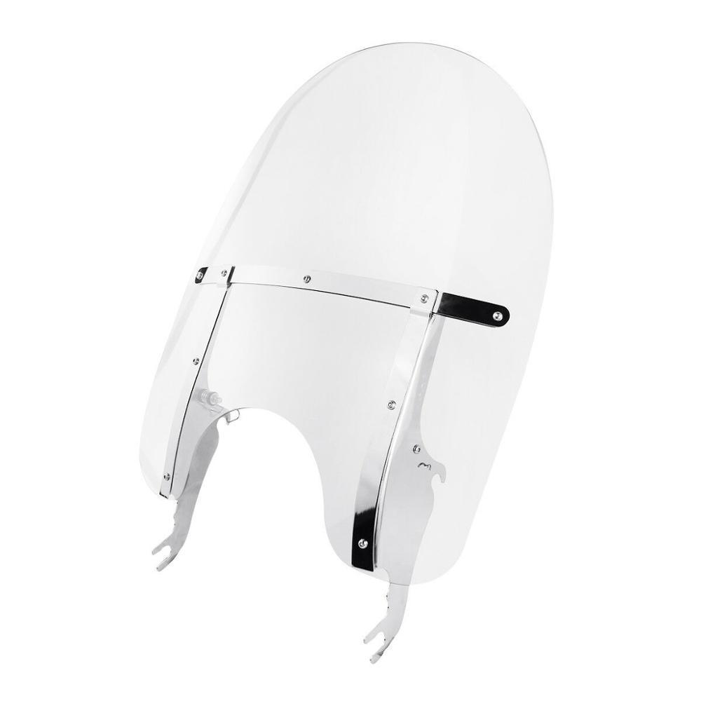 Motorcycle Clear PC Windscreen Windshield Deflector For Harley Softail Deluxe Fat Boy 2005 2017 Slim FLS