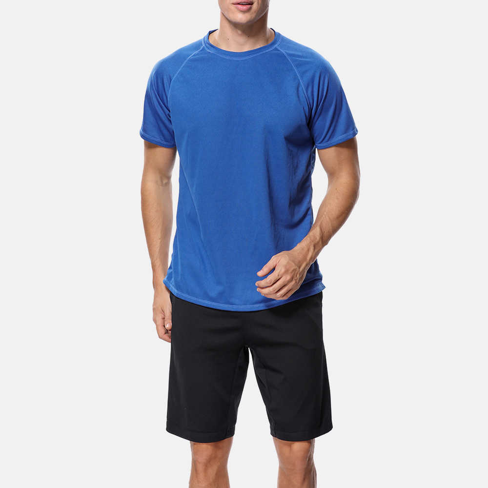 Attrico Мужская Рашгард сухая рубашка мужская Однотонная рубашка УФ-защита Рашгард UPF 50 + пляжная одежда