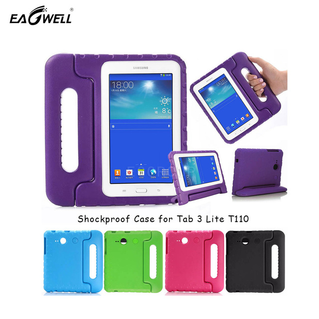 Kids Children Safe Rugged Proof Foam Case Handle Stand For Samsung Galaxy Tab 3 Lite T110