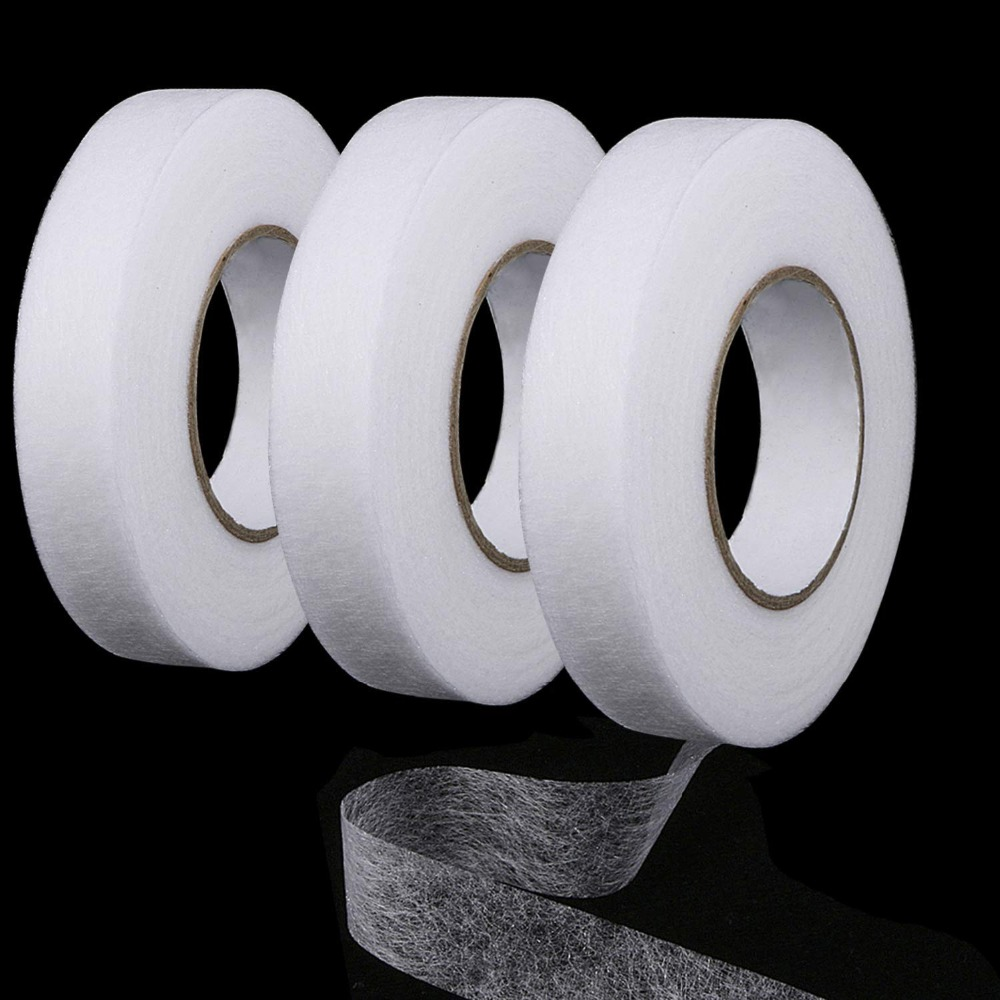 70 Yard//Roll LIHAO 2 Roll of Hem Tape Fabric Fusing Iron-on Double Side Hemming Tape