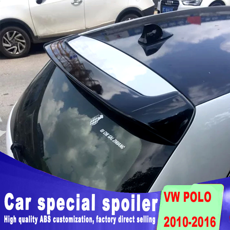 new style 2010 to 2016 rear window roof spoiler primer paint or balck white color ABS material for Volkswagen VW polo spoilernew style 2010 to 2016 rear window roof spoiler primer paint or balck white color ABS material for Volkswagen VW polo spoiler