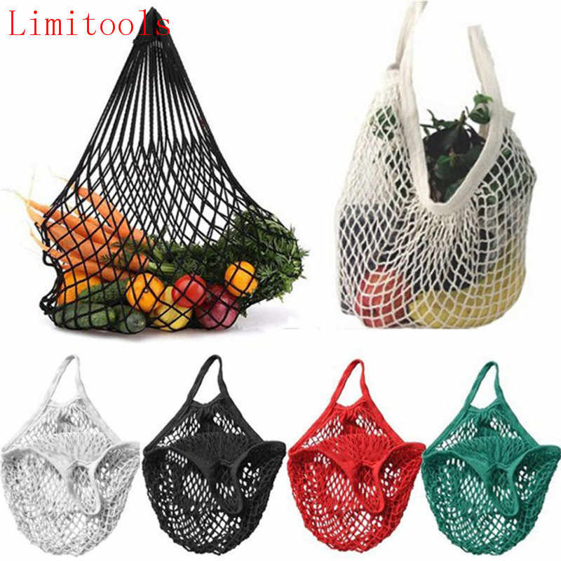 LIMITOOLS Brand NEW 1PC Reusable String Shopping Grocery Bag Shopper Tote Mesh Net Woven Cotton Bag Hand Totes