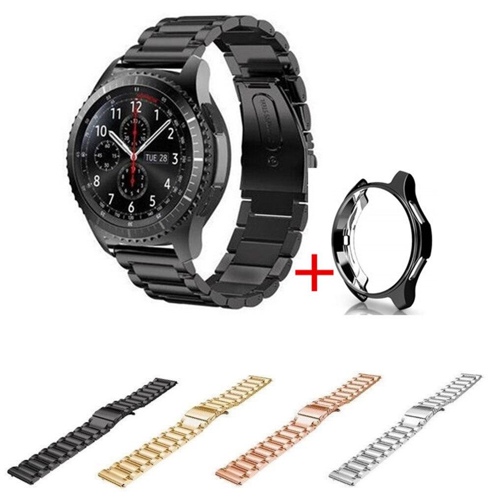 46mm Case+Stainless Steel Bands for Samsung Gear S3 Classic/Frontier Link Bracelet 22mm Straps Wrist Belt Smartwatch Accessories