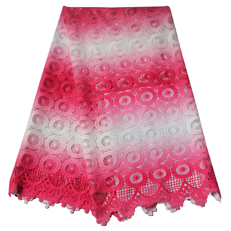 latest african cord lace 2016 Multi color african swiss voile lace fabric high quality for wedding dreses 5yards